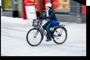 Lady on bike 413